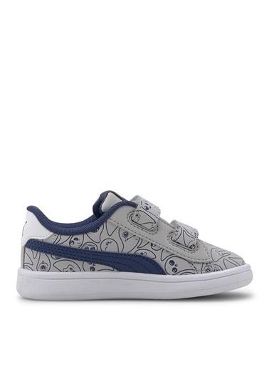 Puma Puma Erkek Çocuk Gri Beyaz Yürüyüş Ayakkabısı Gri